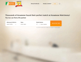 assamesematrimony.com screenshot
