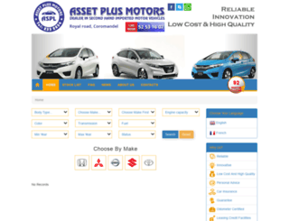 assetplusmotors.mu screenshot