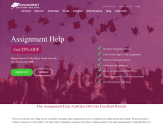 assignmentprovider-aus.com screenshot
