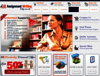 assignmentwritinghelp.co.uk screenshot
