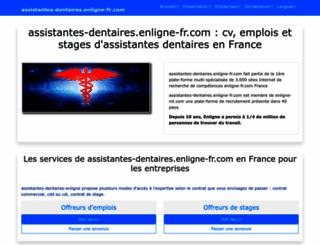 assistantes-dentaires.enligne-fr.com screenshot
