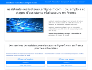 assistants-realisateurs.enligne-fr.com screenshot