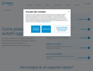 assistenza.indesit.it screenshot
