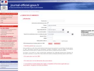 assoc.journal-officiel.gouv.fr screenshot