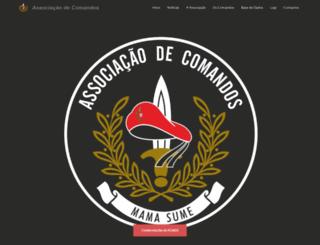 associacaocomandos.pt screenshot
