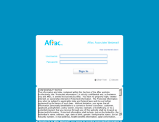 associateemail.aflac.com screenshot