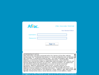 associateemail2.aflac.com screenshot