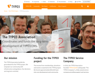 association.typo3.org screenshot
