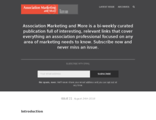 associationmarketing.curated.co screenshot