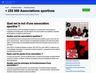associations-sportives.fr screenshot