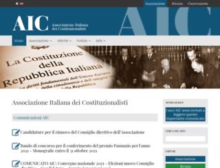 associazionedeicostituzionalisti.it screenshot