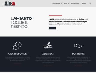 associazioneitalianaespostiamianto.org screenshot