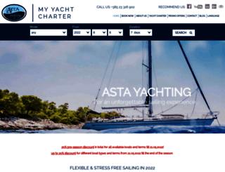 asta-yachting.hr screenshot