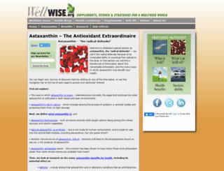 astaxanthin.wellwise.org screenshot