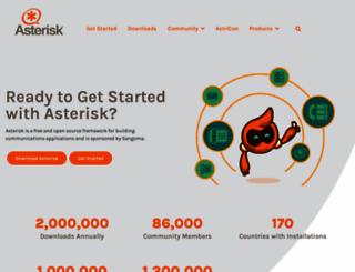 asterisk.org screenshot