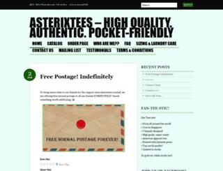 asterixtees.wordpress.com screenshot