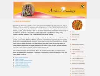 asthaastrology.com screenshot
