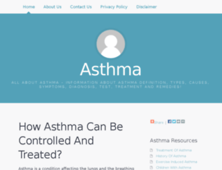 asthma-in-infants.com screenshot
