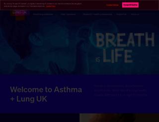 asthma.org.uk screenshot