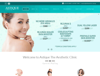 astiqueclinic.com.sg screenshot