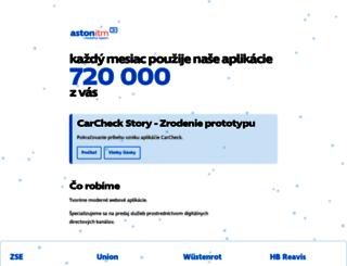 aston.sk screenshot