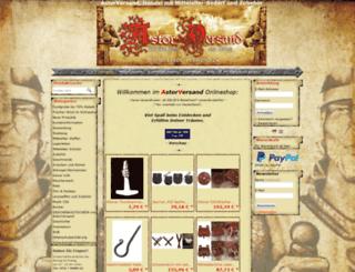 astor-versand.de screenshot