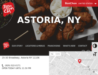astoriany.bonchon.com screenshot