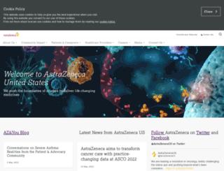 astrazeneca-us.com screenshot