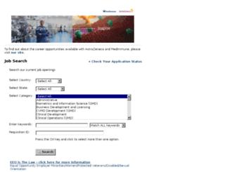 astrazeneca.candidatecare.com screenshot