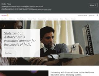astrazenecaindia.com screenshot