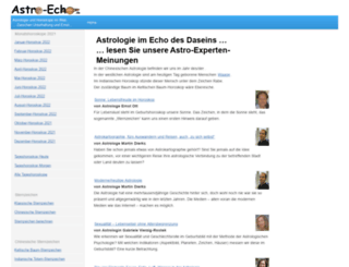 astro-echo.de screenshot