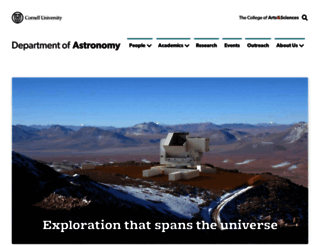 astro.cornell.edu screenshot