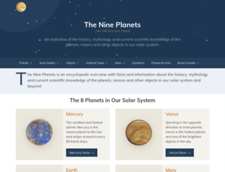 astro.nineplanets.org screenshot