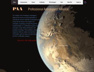 astrologersalliance.org screenshot