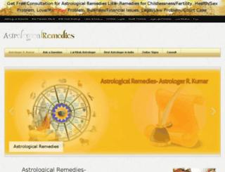 astrologicalremediesonline.in screenshot