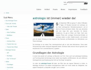 astrologix.de screenshot