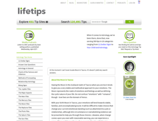 astrology.lifetips.com screenshot