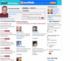 astrology.rediff.com screenshot