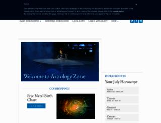 astrologyzone.com screenshot