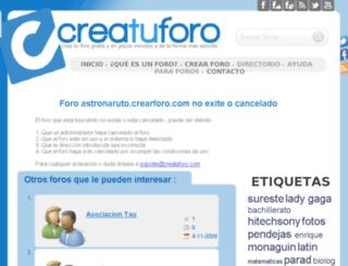 astronaruto.crearforo.com screenshot