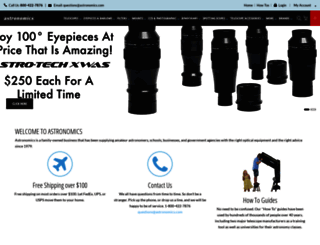 astronomics.com screenshot