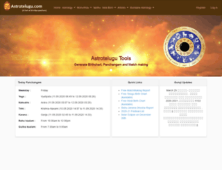 astrotelugu.com screenshot