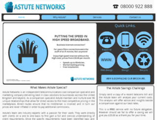 astute-networks.co.uk screenshot
