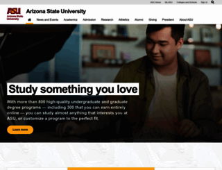 asu.edu screenshot