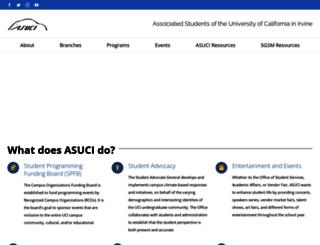 asuci.uci.edu screenshot