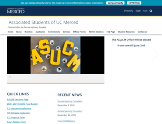 asucm.ucmerced.edu screenshot