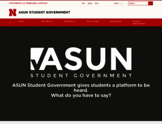 asun.unl.edu screenshot
