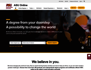 asuonline.asu.edu screenshot