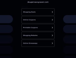 asupersavvysaver.com screenshot