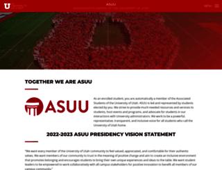 asuu.utah.edu screenshot